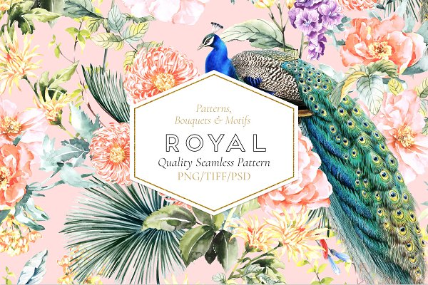 Graphics: TSTUDIO - Royal, Seamless Patterns and Motifs.