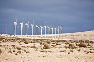 Windmill inside the Desert