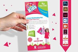 Rack Card | Kids Fashion DL Flyer v1