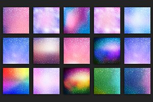 Holographic and Glitter Backgrounds