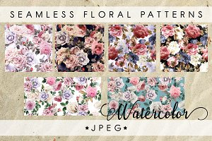 7 Seamless floral patterns
