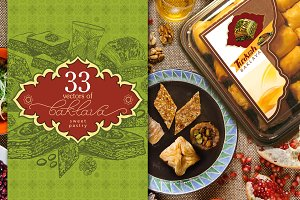 Sweet pastry baklava - sets