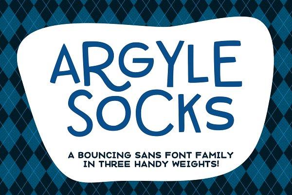 Argyle Socks: fun font in 3 weights!