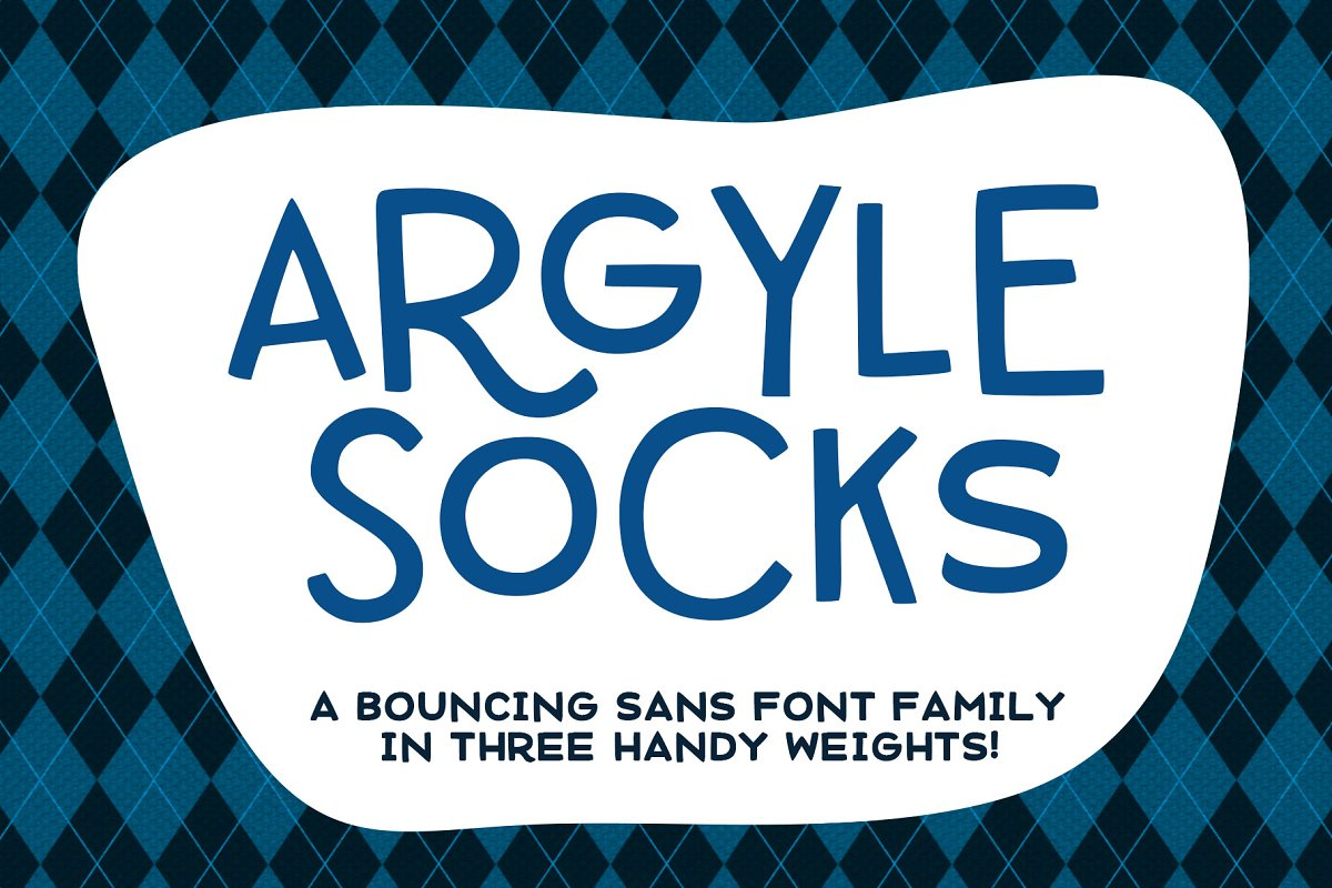 Argyle Socks: fun font in 3 weights!