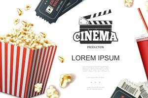 Realistic cinema elements concept