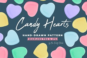 Candy Hearts Valentines Day Pattern