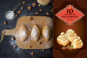 Sweet pastry badambura - sets