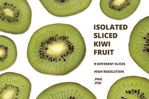 Isolated Kiwi Slices