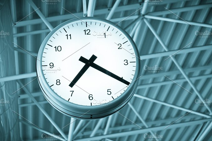 Clock. Time concept. - Nature