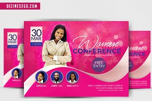 Women's Conference or event flyer V3