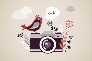 Vintage Camera - vector illustration