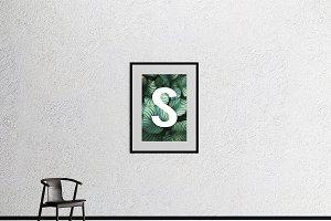 Single wall frame mockup