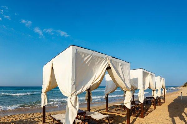 Morning sandy beach, Pescoluse, Pug…