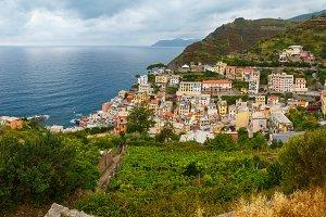 Summer Riomaggiore village coast, Ci