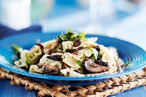 mushroom bow tie pasta