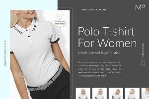 Women Polo Mock-ups Set FREE DEMO