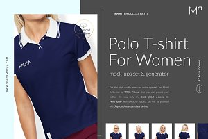Women Polo Shirt Mockups FREE DEMO