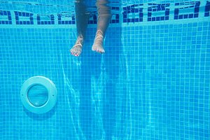 Feet in the pool