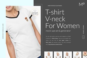 Women T-Shirt Mock-ups Set FREE DEMO