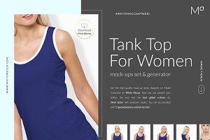 Women Tank Mock-ups Set FREE DEMO