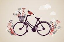 Vintage Retro Bicycle illustration