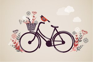 Vintage Retro Bicycle illustration