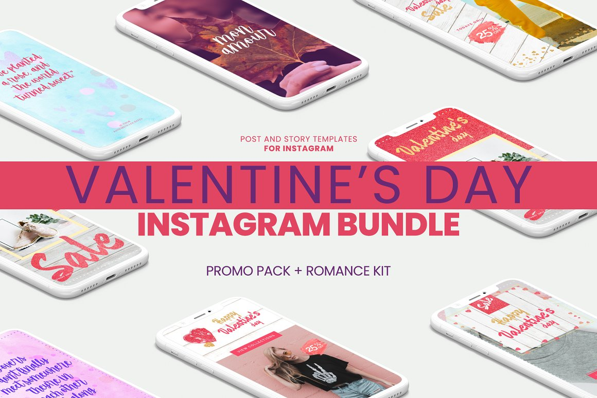 Valentine's day Instagram Bundle
