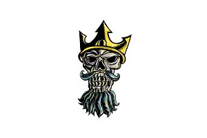 Skull of Neptune Trident Crown Head