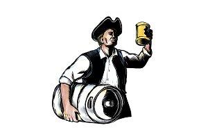 American Patriot Carry Beer Keg Scra