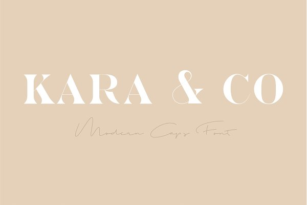 Fonts - Kara & Co - Fashion Serif Font
