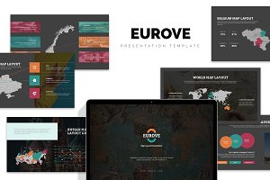Eurove : Europe Area Map Powerpoint