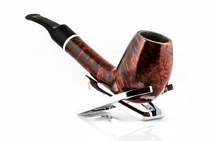 retro smoking pipe isolated on white