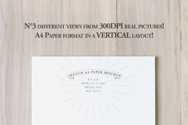 Sketch A4 Vertical Paper Mockup PSD Mockup - Android Mockups