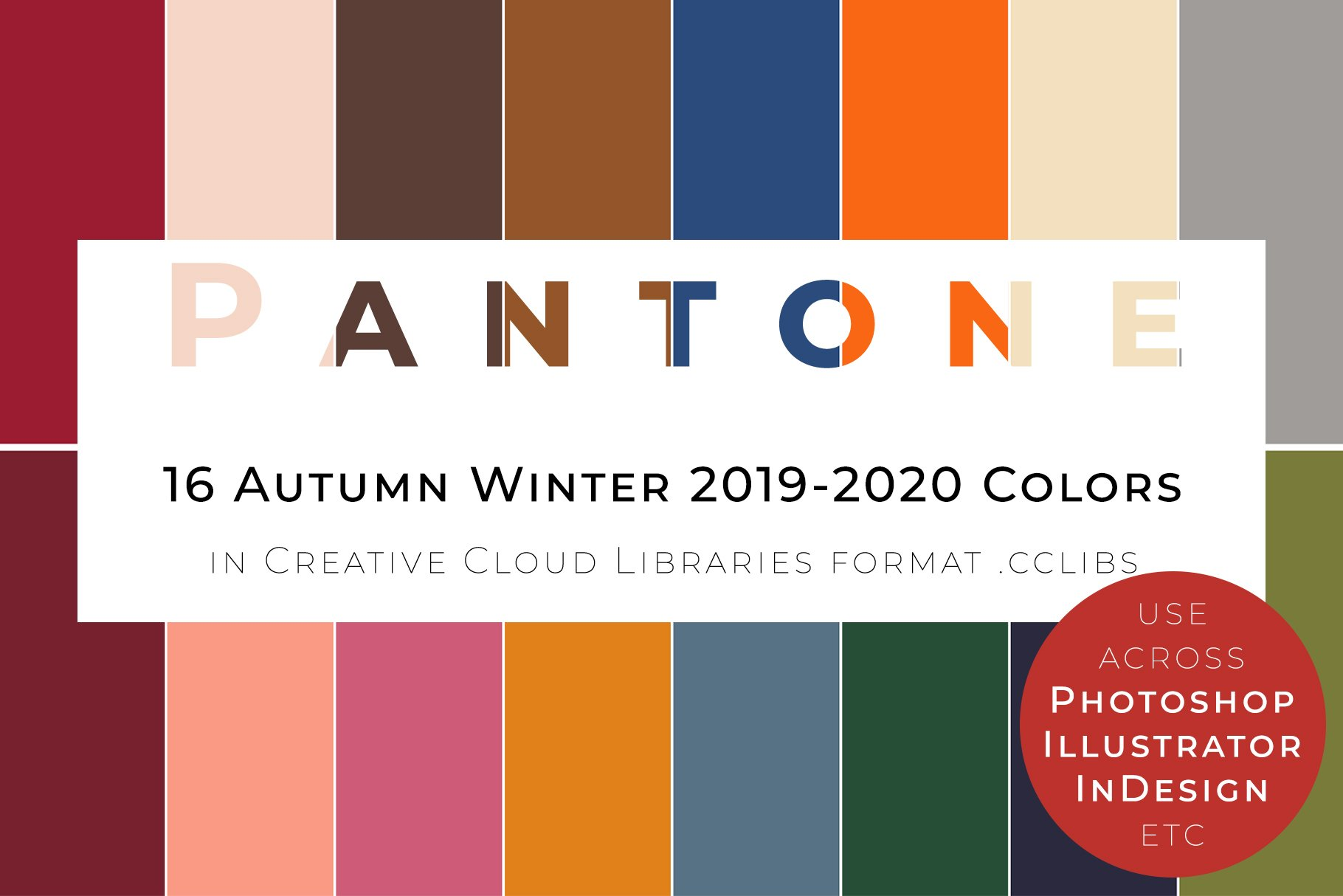 16 pantone aw 2019 20 palette illustrator add ons creative market