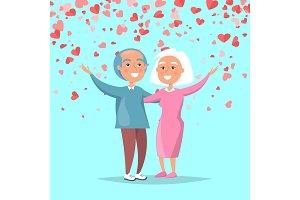 Elderly Couple Send Merry Greetings