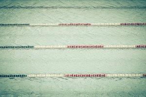Transparent swimming pool