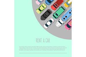 Car rent vector illustration