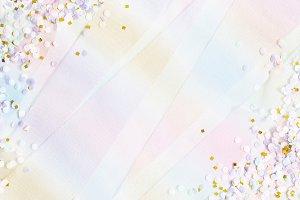 Unicorn festive background