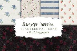 Summer berries backgrounds