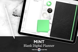 Digital Planner: Blank Monthly Mint