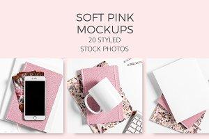 Soft Pink Mockups (20 Images)