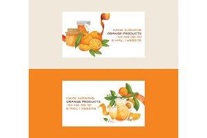 Citrus vector fresh orange fruit
