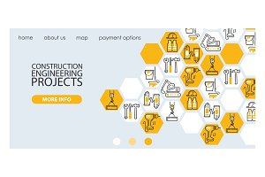 Builder vector web landing page
