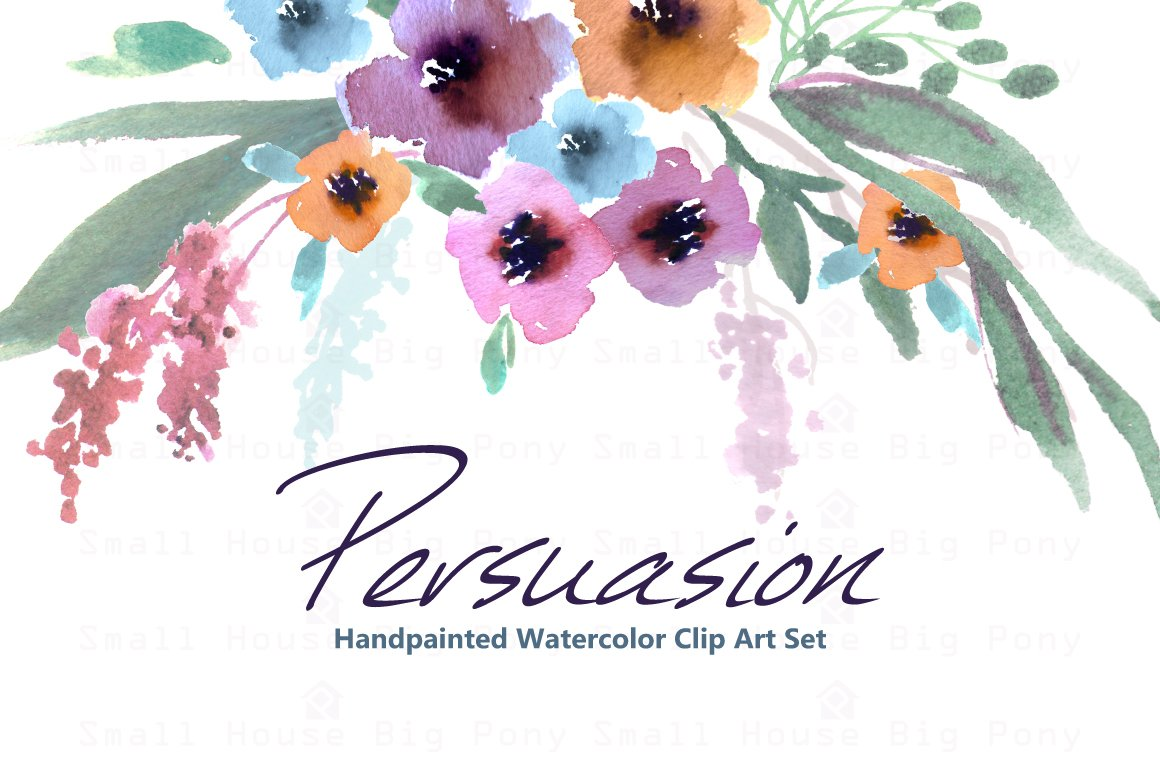 Persuasion-Watercolor Clip Art ~ Illustrations on Creative Market