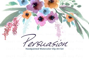 Persuasion-Watercolor Clip Art