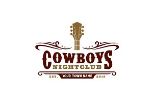 Country Music Bar typography logo