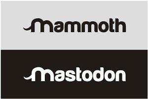Funny Mastodon Mammoth typography