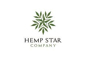 Leaves Hemp &  Star for CBD Logo