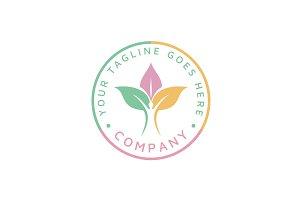 Human & Leaves Nature Health Logo