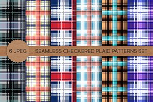 Seamless Checkered Plaid Patterns